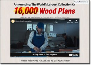 Teds Woodworking Website Screenshot