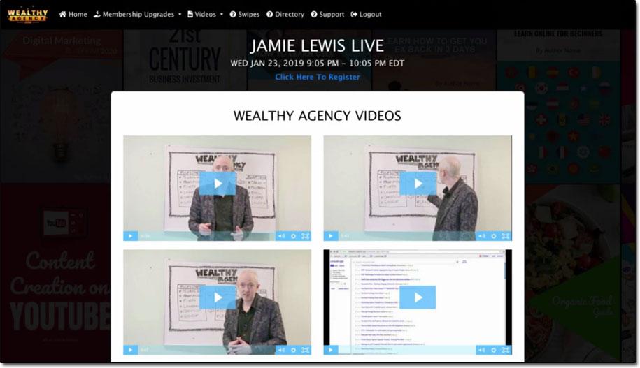 Wealthy Agency Members Area