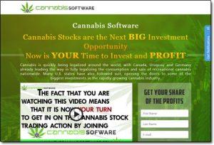 Cannabis Software Website Screenshot
