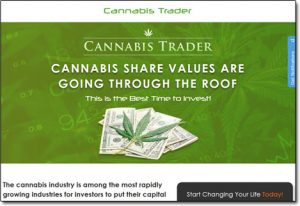 Cannabis Trader App Website Screenshot