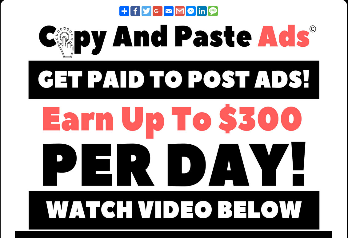 cut and paste ads make money