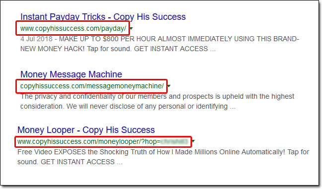 CopyHisSuccess Scams