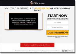 Ecom Cash Crusher System Website Screenshot