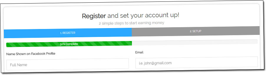 FB Dollars Account Setup