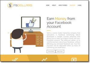 FB Dollars Website Screenshot