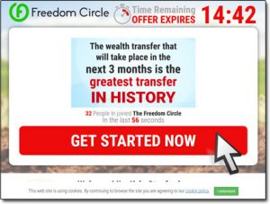 The Freedom Circle Software Website Screenshot