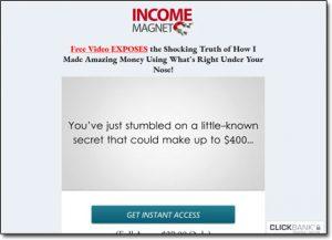 Income Magnet Website Screenshot