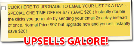 Instant Email Empire Upsells