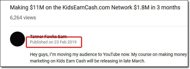 Kids Earn Cash YouTube Proof