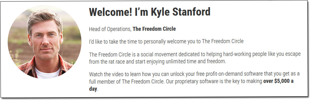 Kyle Stanford Freedom Circle Software CEO