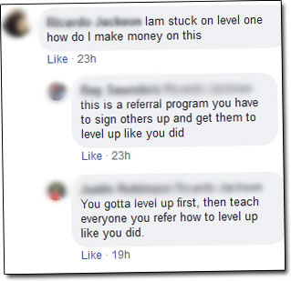 Level Rewards Facebook Group Comments
