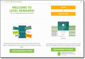 Level Rewards Website Screenshot