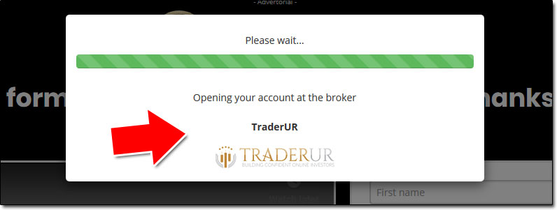 Profit Formula Broker Deposit Screen