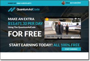 Quantum Ad Code System Website Screenshot