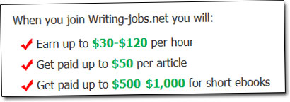 Writing Jobs Online Income Claim