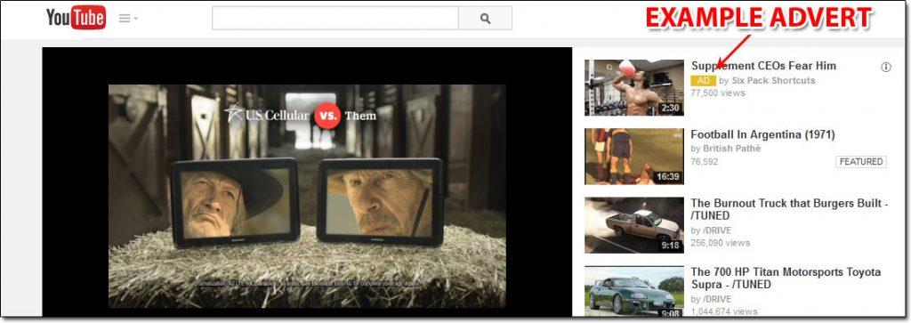 YouTube Advert Example