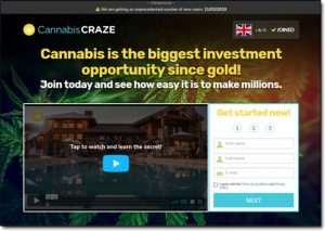 CannabisCRAZE System Website Screenshot