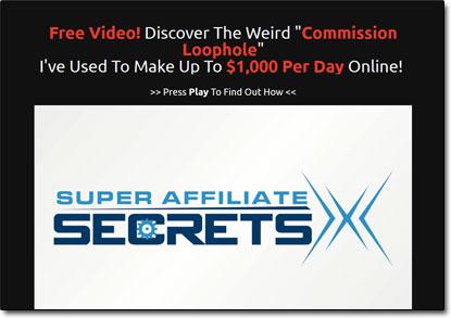 Super Affiliate Secrets X Website Screenshot