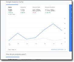 Screenshot of Google Analytics Graph