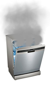 Broke Dishwasher With Smoke Coming Out