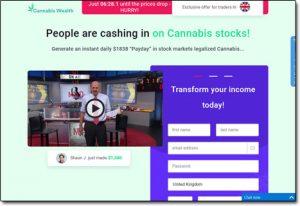 Cannabis Wealth System Website Screenshot