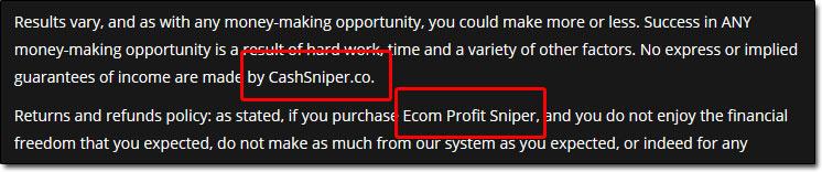 Cash Sniper Links With Ecom Profit Sniper