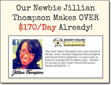 Jillian Thompson Secret Online Goldmine