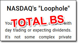 NASDAQ Loophole Claim