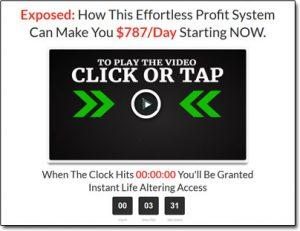Secret Online Goldmine System Website Screenshot