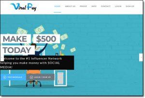 Viral Pay Website Screenshot
