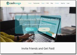 Cashooga Website Screenshot