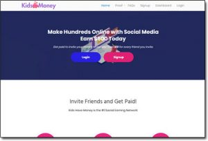 Kids Have Money Website Screenshot