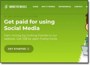 Money Rewards Website Screenshot