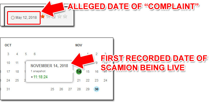 Scamion Dates