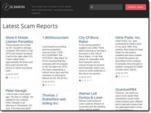 Scamion Website Screenshot