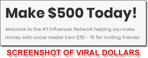 Viral Dollars Income Claim