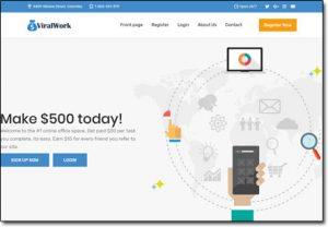 ViralWork Website Screenshot