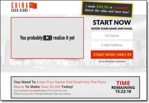 China Cash Clone System Website Screenshot