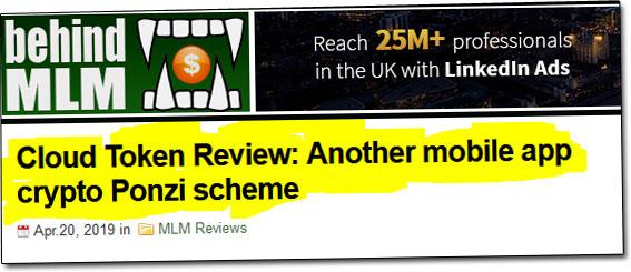 Cloud Token Wallet Branded Ponzi Scheme
