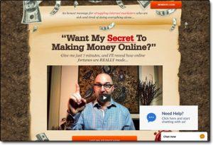 My Lead Gen Secret Website Screenshot
