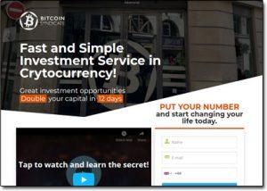 Bitcoin Syndicate Website Screenshot