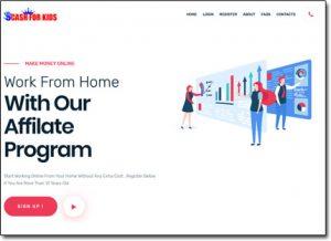 Cash For Kids Website Screenshot