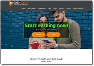 Cashload.net Website Screenshot