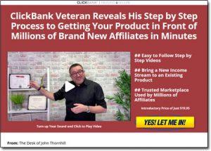 ClickBank Superstar Website Screenshot