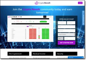 Crypto Revolt System Website Screenshot