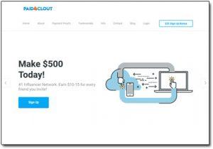 Paid4Clout Website Screenshot