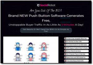 Social Robot Software Website Screenshot
