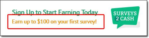 Surveys2Cash Income Claim
