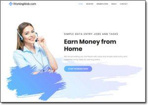 WorkingMob Website Screenshot