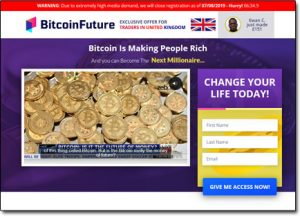 Bitcoin Future System Website Screenshot